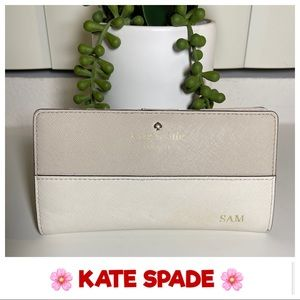 KATE SPADE Colorblocked Slim Bifold Wallet AUTH